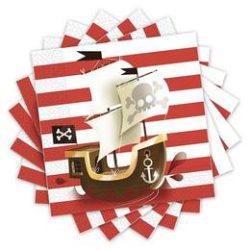Kalózos - Powerful Pirates Parti Szalvéta - 33 cm x 33 cm, 20 db-os