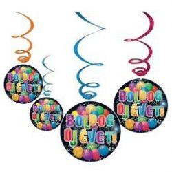 Boldog új évet! Szilveszteri függődekoráció 6 db-os