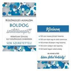 Boldog Születésnapot! Kék Pasztell Konfettis Boros Üveg Címke