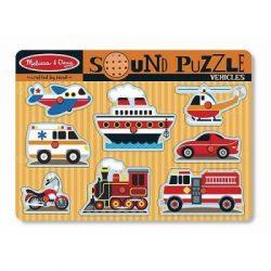 Járművek hangos puzzle-Melissa&Doug