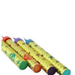 Torta csillagszóró, színes - 12 cm, 4 db-os