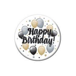 Happy Birthday! Elegáns Léggömbös Kitűző