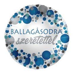 Ballagásodra Szeretettel Kék Pasztell Konfettis Héliumos Fólia Lufi, 43 cm
