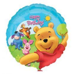 18 inch-es Micimackó - Pooh és Friends Sunny Birthday - Szülinapi Fólia Lufi