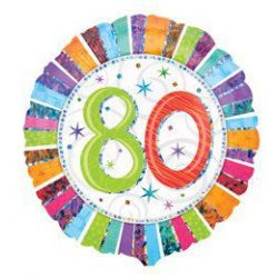 18 inch-es Radiant birtthday 80-as születésnapi fólia lufi