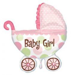 Baby Buggy Girl Super Shape fólia lufi baba születésre