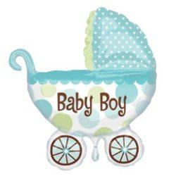 Baby Buggy Boy Super Shape fólia lufi baba születésre