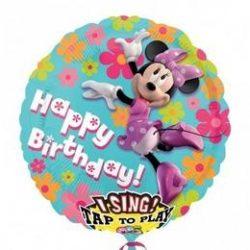 28 inch-es Minnie Egér - Minnie Mouse Éneklő Szülinapi Fólia Lufi