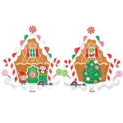 Mézeskalács Ház Karácsonyi Super Shape Fólia Lufi