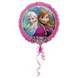 Éneklő Frozen szülinapi  fólia lufi