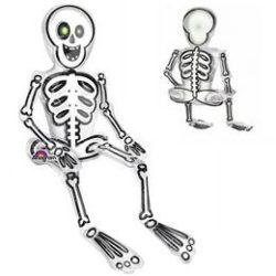 Ülő Csontváz Levegős Fólia Lufi Halloween-re, 66 cm