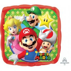 17 inch-es Super Mario és Csapata Héliumos Fólia Lufi