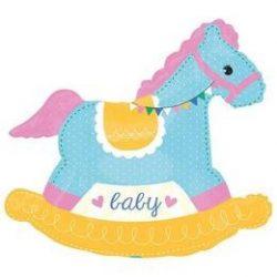 Baby Shower Rocking Horse Super Shape Fólia Lufi