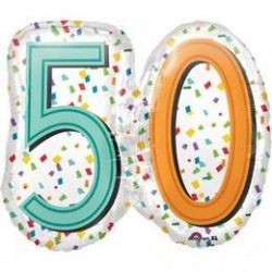 Rainboww birthday super shape fólia lufi 50