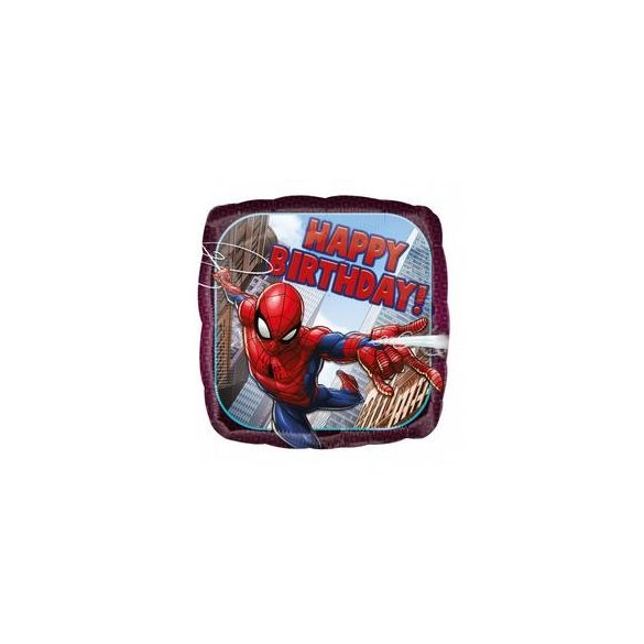 17 inch-es Pókember - Spiderman Szülinapi Fólia Lufi, 43 cm