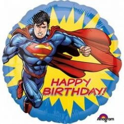 17 inch-es Happy Birthday - Superman Szülinapi Fólia Lufi