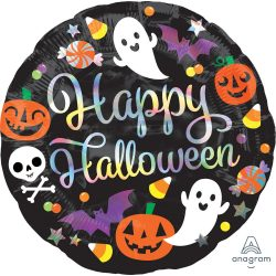 18 inch-es Irizáló Happy Hallowen - fólia lufi