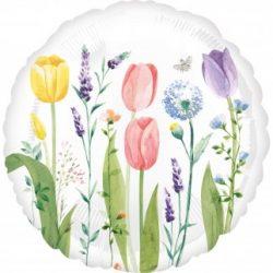 43 cm-es Tulipán Mintás - Tulip Garden Fólia Lufi