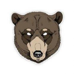 Karton Medve Álarc