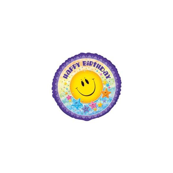 18 inch-es Smile Stars Birthday Szülinapi Fólia Lufi
