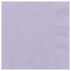 Lavender Papír Parti Szalvéta - 33 cm x 33 cm, 20 db-os