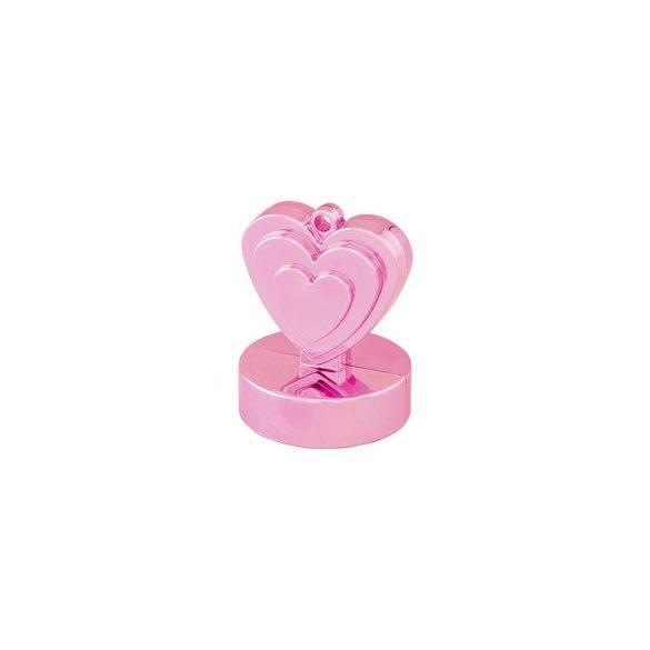 Gyöngyház rózsaszín szives léggömbsúly