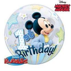 Disney Buborék Mickey Egér Léggömb - 1 éves