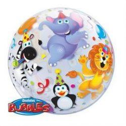 22 inch-es Parti Állatok - Party Animals Bubble Lufi