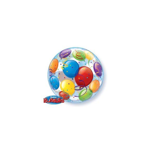 Léggömb Mintás Héliumos Buborék Lufi, 56 cm