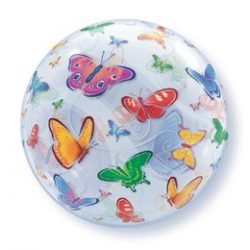 22 inch Pillangó mintás bubble lufi