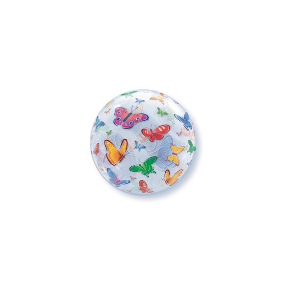 Pillangó Mintás Buborék Lufi, 56 cm