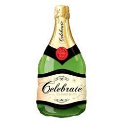 39 inch-es Celebrate Bubbly Wine Bottle - Pezsgősüveg - Fólia Lufi