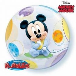 Baby Mickey Buborék Lufi Babaszületésre - 56 cm