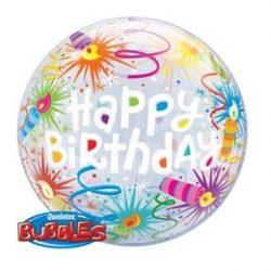 Birthday Lit Candles bubble lufi