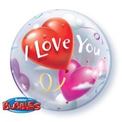 22 inch-es I Love You Heart Balloons Szerelmes Bubble Lufi