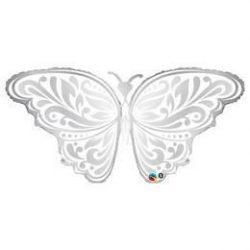 Pillangó Esküvői Fólia Lufi, 112 cm