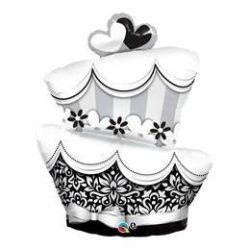 41 inch-es Fun & Fabulous Wedding Cake Esküvői Fólia Lufi