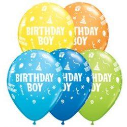 11 inch-es Birthday Boy Szülinapi Lufi (6 db/csomag)