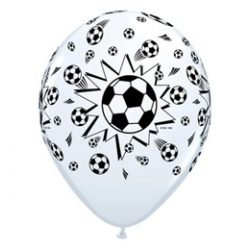 11 inch-es Soccer Balls White - Focilabdás Lufi (6 db/csomag)