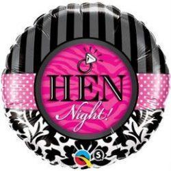 18 inch-es Hen Night! Damask & Stripes Fólia Lufi Lánybúcsúra q18456