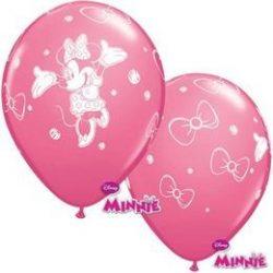 11 inch-es Minnie Egér Rose Lufi (6 db/csomag)