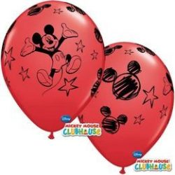 11 inch-es Mikiegér - Mickey Mouse Red Lufi (6 db/csomag)