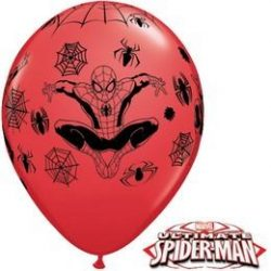 11 inch-es Pókember - Marvel's Spiderman Red Lufi (6 db/csomag)