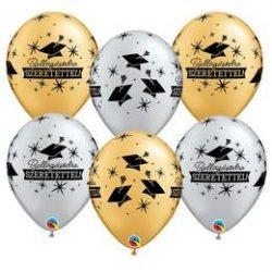 11 inch-es Ballagásodra Szeretettel Gold/Silver Lufi Ballagásra