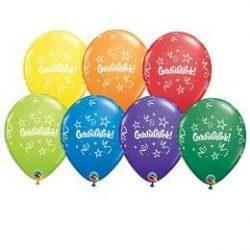 11 inch-es Gratulálok Carnival Asst. Lufi Ballagásra (6 db/csomag) q21748rp