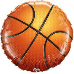 Kosárlabda Formájú Fólia Lufi, 46 cm