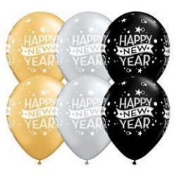 11 inch-es New Year Confetti Dots Szilveszteri Lufi