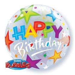 22 inch-es Birthday Brilliant Stars Szülinapi Bubble Lufi