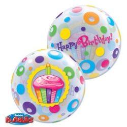Birthday Cupcakes és Dots Szülinapi Bubble Lufi