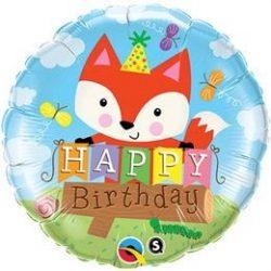 18 inch-es Birthday Party Fox Szülinapi Fólia Lufi